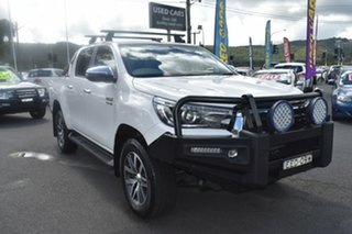 2019 Toyota Hilux GUN126R SR5 Double Cab White 6 Speed Manual Utility.