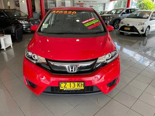 2015 Honda Jazz GF MY15 VTi Red 1 Speed Constant Variable Hatchback.