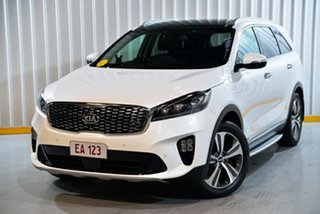 2018 Kia Sorento UM MY19 GT-Line (4x4) White 8 Speed Automatic Wagon.