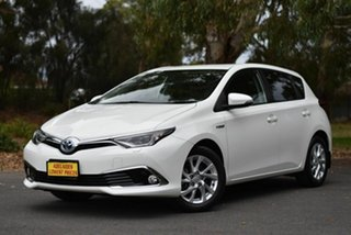 2017 Toyota Corolla ZWE186R Hybrid E-CVT White 1 Speed Constant Variable Hatchback Hybrid.