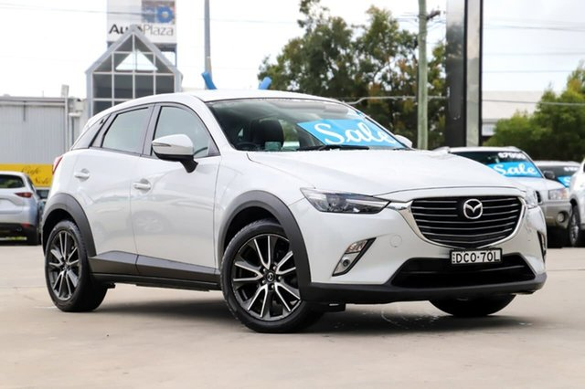 Used Mazda CX-3 DK2W7A sTouring SKYACTIV-Drive Kirrawee, 2015 Mazda CX-3 DK2W7A sTouring SKYACTIV-Drive White 6 Speed Sports Automatic Wagon