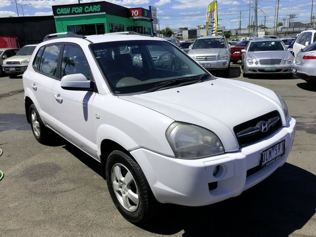 Used Hyundai Tucson City Cheltenham, 2006 Hyundai Tucson City White 4 Speed Auto Selectronic Wagon