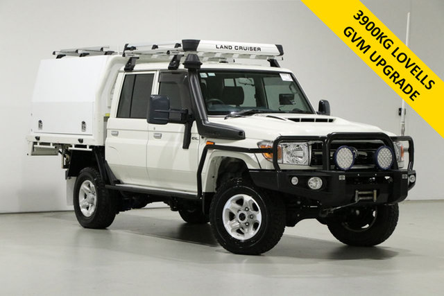 Used Toyota Landcruiser VDJ79R GXL (4x4) Bentley, 2020 Toyota Landcruiser VDJ79R GXL (4x4) White 5 Speed Manual Double Cab Chassis