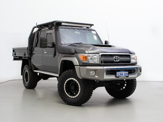 2019 Toyota Landcruiser VDJ79R GXL (4x4) Grey 5 Speed Manual Double Cab Chassis.