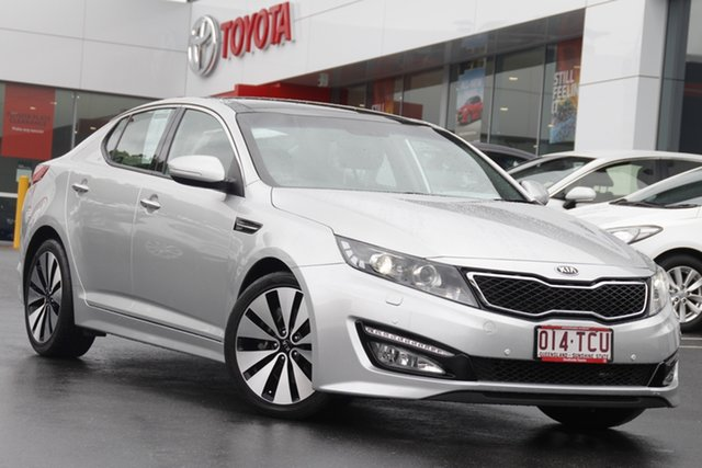 Pre-Owned Kia Optima TF MY13 Platinum Woolloongabba, 2012 Kia Optima TF MY13 Platinum Silver 6 Speed Sports Automatic Sedan
