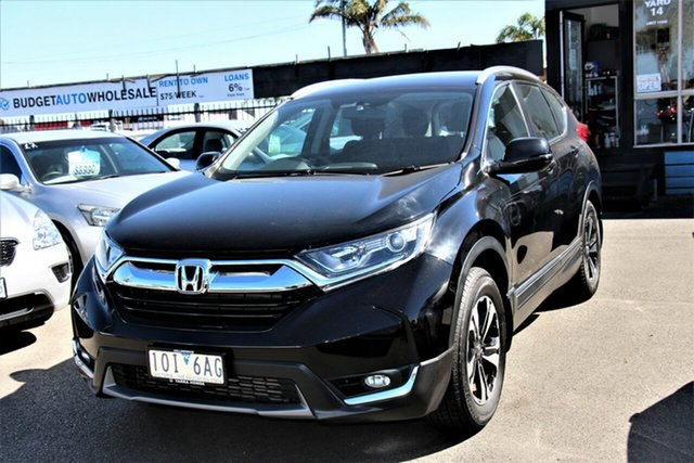 Used Honda CR-V RW MY18 VTi FWD Cheltenham, 2018 Honda CR-V RW MY18 VTi FWD Black 1 Speed Constant Variable Wagon