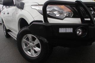 2017 Mitsubishi Triton MQ MY17 GLX+ Double Cab White Solid 5 Speed Sports Automatic Utility.