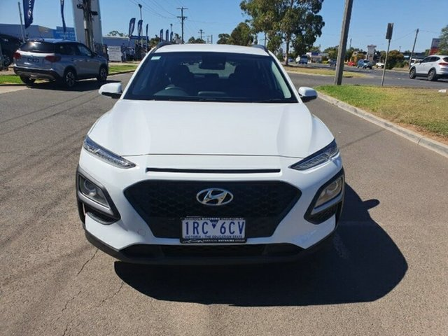 Used Hyundai Kona OS.3 MY20 Go 2WD Melton, 2019 Hyundai Kona OS.3 MY20 Go 2WD Chalk White 6 Speed Sports Automatic Wagon