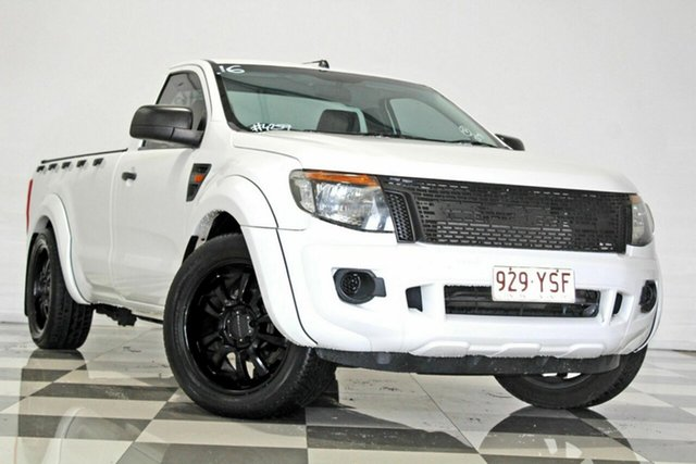 Used Ford Ranger PX XL 2.2 (4x2) Burleigh Heads, 2015 Ford Ranger PX XL 2.2 (4x2) White 6 Speed Manual Utility