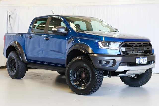 Used Ford Ranger PX MkIII 2019.00MY Raptor Wangara, 2018 Ford Ranger PX MkIII 2019.00MY Raptor Blue 10 Speed Sports Automatic Utility