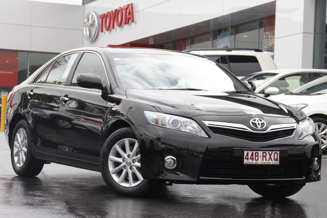 Pre-Owned Toyota Camry AHV40R Hybrid Luxury Woolloongabba, 2011 Toyota Camry AHV40R Hybrid Luxury Black Mica Metallic 1 Speed Constant Variable Sedan Hybrid