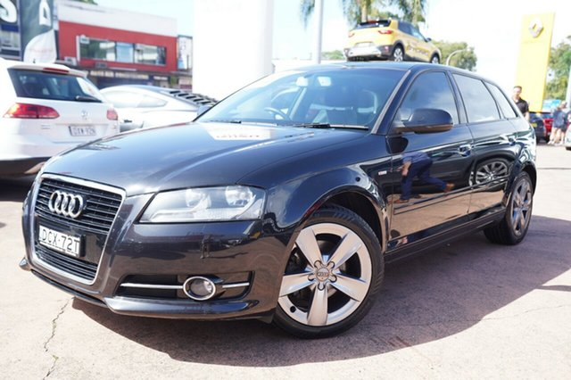 Used Audi A3 8P MY12 Sportback 1.8 TFSI Ambition Brookvale, 2012 Audi A3 8P MY12 Sportback 1.8 TFSI Ambition Black 7 Speed Auto Direct Shift Hatchback