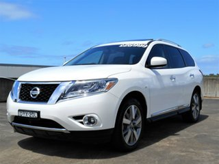 2013 Nissan Pathfinder R52 MY14 Ti X-tronic 2WD White 1 Speed Constant Variable Wagon
