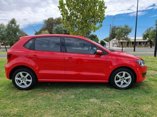 2011 Volkswagen Polo 6R MY12 77TSI DSG Comfortline Red 7 Speed Sports Automatic Dual Clutch.