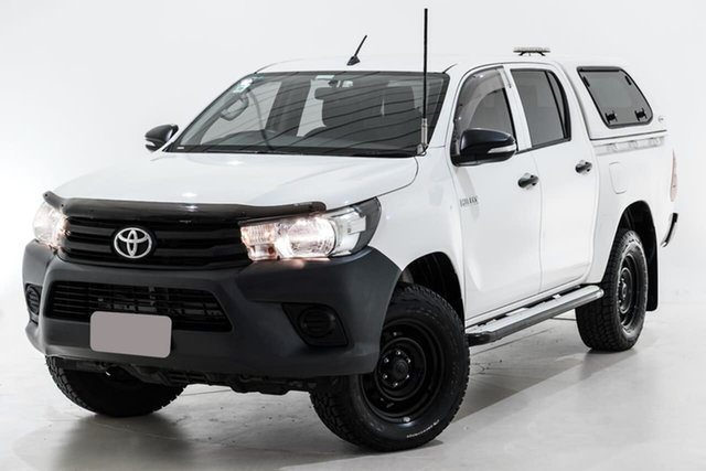 Used Toyota Hilux GUN125R Workmate Double Cab Berwick, 2016 Toyota Hilux GUN125R Workmate Double Cab White 6 Speed Sports Automatic Utility
