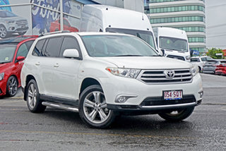 2012 Toyota Kluger GSU40R MY12 KX-S 2WD White 5 Speed Sports Automatic Wagon.
