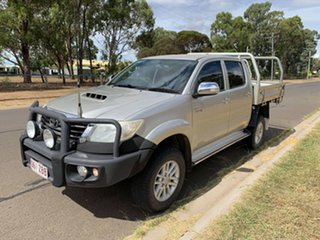 2013 Toyota Hilux KUN26R MY14 SR5 (4x4) Sterling Silver 5 Speed Manual Dual Cab Pick-up