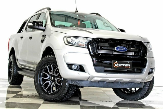 Used Ford Ranger PX MkII MY18 FX4 Special Edition Burleigh Heads, 2017 Ford Ranger PX MkII MY18 FX4 Special Edition Silver 6 Speed Automatic Double Cab Pick Up