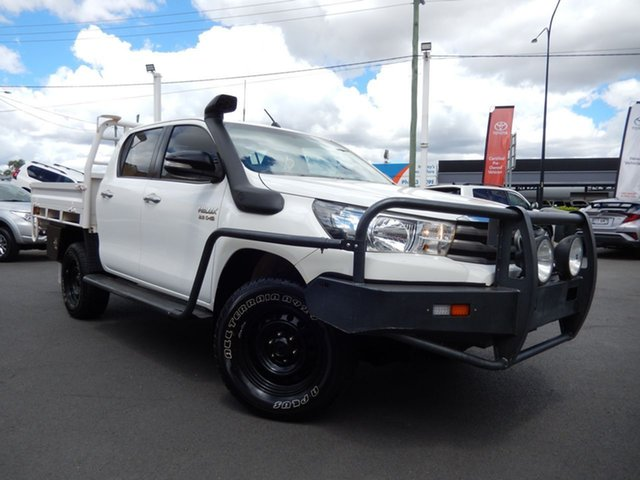 Pre-Owned Toyota Hilux GUN126R SR (4x4) Dalby, 2016 Toyota Hilux GUN126R SR (4x4) Glacier White 6 Speed Automatic Dual Cab Chassis