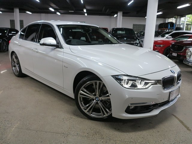 Used BMW 3 Series F30 LCI 330i Luxury Line Albion, 2017 BMW 3 Series F30 LCI 330i Luxury Line White 8 Speed Sports Automatic Sedan