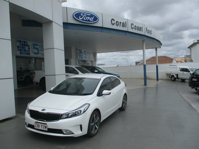 Used Kia Cerato YD MY17 Sport Bundaberg, 2017 Kia Cerato YD MY17 Sport White 6 Speed Auto Seq Sportshift Hatchback