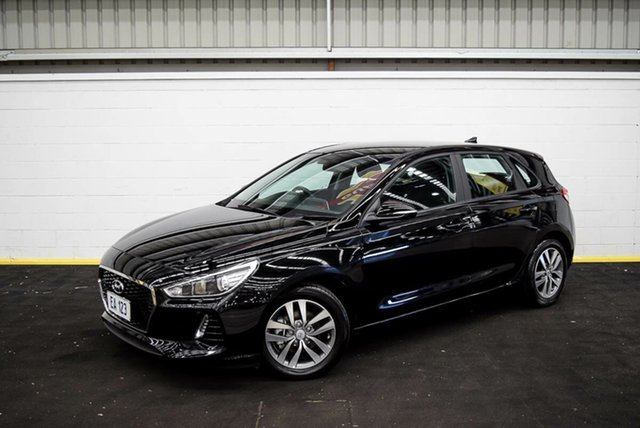 Used Hyundai i30 PD MY18 Active Canning Vale, 2017 Hyundai i30 PD MY18 Active Black 6 Speed Sports Automatic Hatchback