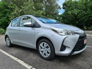 2019 Toyota Yaris NCP130R Ascent Silver 4 Speed Automatic Hatchback.