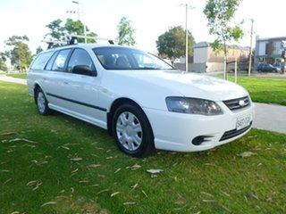 2009 Ford Falcon BF Mk III XT White Sports Automatic Wagon.