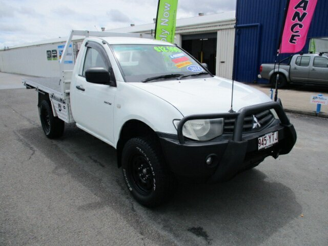 Used Mitsubishi Triton GL 4x2 Woodridge, 2013 Mitsubishi Triton GL 4x2 White 5 Speed Manual Utility