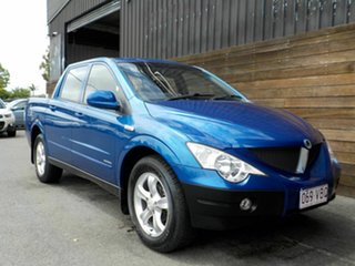 2010 Ssangyong Actyon Sports 100 Series MY08 Sports Blue 6 Speed Automatic Utility.