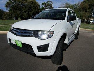 2013 Mitsubishi Triton MN MY12 GLX (4x4) White 5 Speed Manual 4x4 Double Cab Utility
