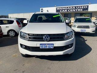 2013 Volkswagen Amarok 2H MY13 TDI400 (4x4) White 6 Speed Manual Dual Cab Utility.