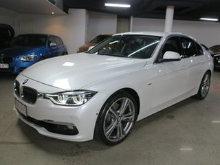 2017 BMW 3 Series F30 LCI 330i Luxury Line White 8 Speed Sports Automatic Sedan.