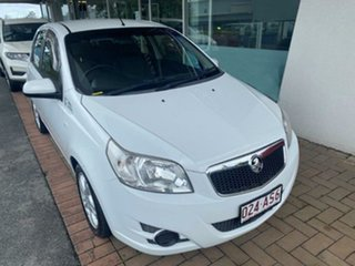 2010 Holden Barina TK MY11 White 4 Speed Automatic Hatchback.