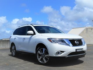 2013 Nissan Pathfinder R52 MY14 Ti X-tronic 2WD White 1 Speed Constant Variable Wagon.