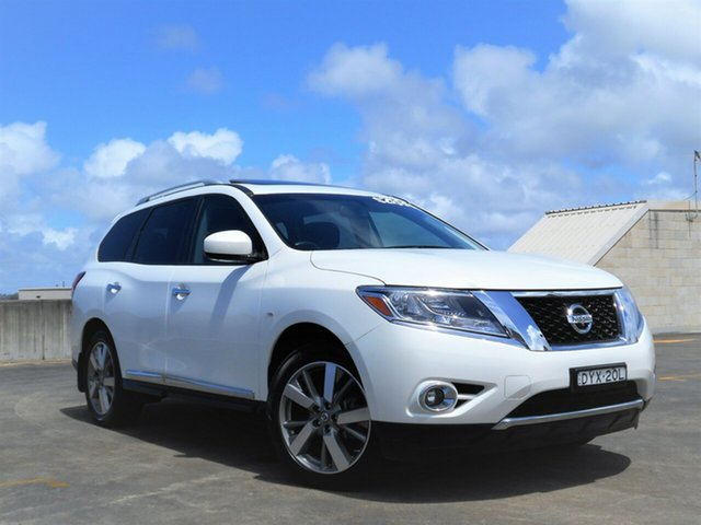 Used Nissan Pathfinder R52 MY14 Ti X-tronic 2WD Brookvale, 2013 Nissan Pathfinder R52 MY14 Ti X-tronic 2WD White 1 Speed Constant Variable Wagon