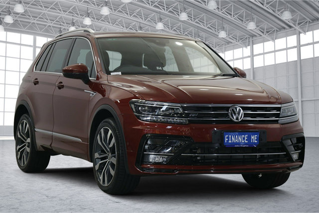 Used Volkswagen Tiguan 5N MY18 162TSI DSG 4MOTION Highline Victoria Park, 2018 Volkswagen Tiguan 5N MY18 162TSI DSG 4MOTION Highline Red 7 Speed Sports Automatic Dual Clutch