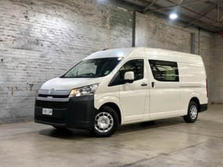 2019 Toyota HiAce GRH320R High Roof Super LWB White 6 Speed Sports Automatic Van.