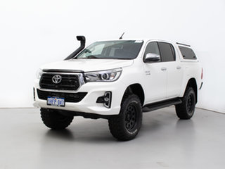2018 Toyota Hilux GUN126R MY19 SR5 (4x4) White 6 Speed Automatic Double Cab Pick Up.