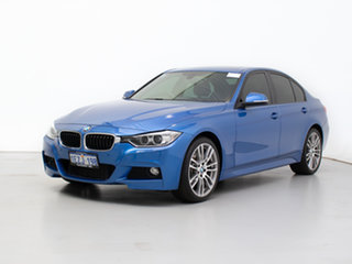 2013 BMW Activehybrid 3 F30 Estoril Blue 8 Speed Automatic Sedan.