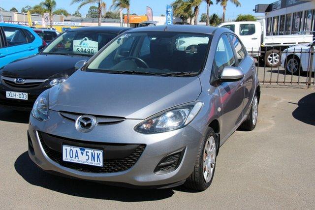 Used Mazda 2 DE10Y2 MY12 Neo Cheltenham, 2011 Mazda 2 DE10Y2 MY12 Neo Silver 5 Speed Manual Hatchback