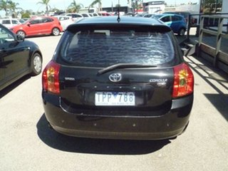 2005 Toyota Corolla ZZE122R 5Y Ascent Sport Black 4 Speed Automatic Hatchback