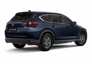 2020 Mazda CX-8 KG4W2A Sport SKYACTIV-Drive i-ACTIV AWD Deep Crystal Blue 6 Speed Sports Automatic.