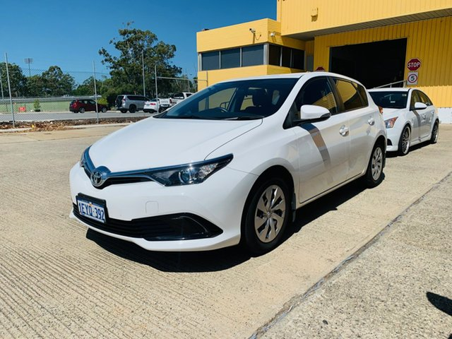 Used Toyota Corolla ZRE182R Ascent S-CVT Canning Vale, 2016 Toyota Corolla ZRE182R Ascent S-CVT White 7 Speed Constant Variable Hatchback