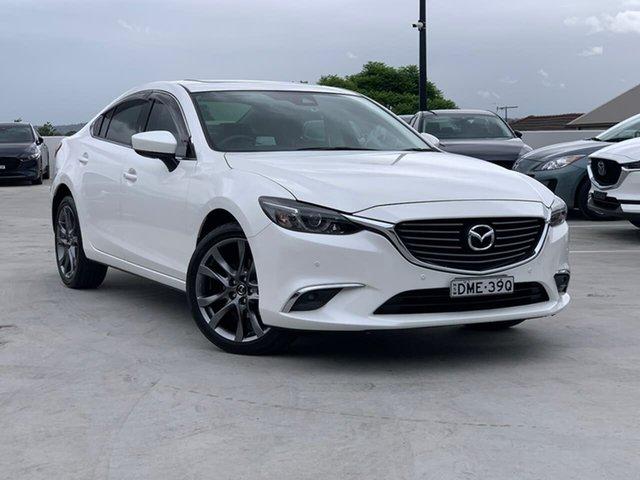 Used Mazda 6 GL1031 GT SKYACTIV-Drive Liverpool, 2016 Mazda 6 GL1031 GT SKYACTIV-Drive White 6 Speed Sports Automatic Sedan