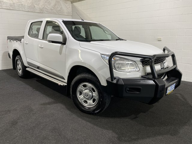 Used Holden Colorado RG MY16 LS Crew Cab Glenorchy, 2016 Holden Colorado RG MY16 LS Crew Cab Summit White 6 Speed Manual Utility