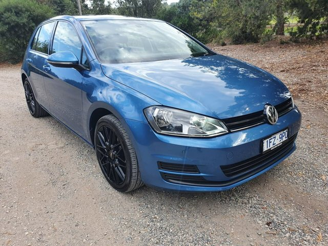Used Volkswagen Golf 7 92TSI Trendline Geelong, 2015 Volkswagen Golf 7 92TSI Trendline Blue Sports Automatic Dual Clutch Hatchback