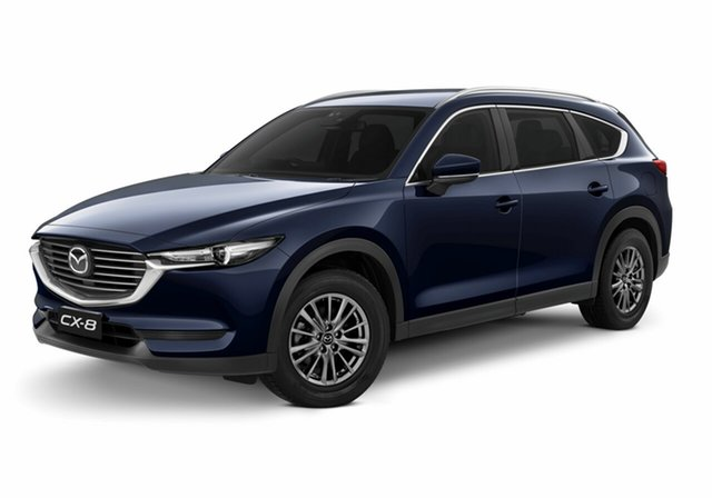 New Mazda CX-8 KG4W2A Sport SKYACTIV-Drive i-ACTIV AWD Toowoomba, 2020 Mazda CX-8 KG4W2A Sport SKYACTIV-Drive i-ACTIV AWD Deep Crystal Blue 6 Speed Sports Automatic