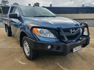 2012 Mazda BT-50 UP0YD1 XT 4x2 Gunmetal Blue 6 Speed Manual Cab Chassis.