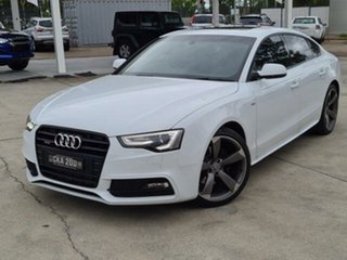 2013 Audi A5 8T MY13 Sportback 3.0 TDI Quattro White 7 Speed Auto Direct Shift Hatchback.